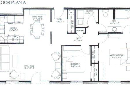 apartment floor plan a