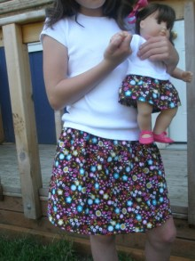 Doll and Me, sweet little skirt tutorial