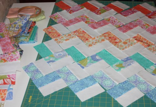 Avery Lane Blog Sewing tutorial zigzag doll quilt 2