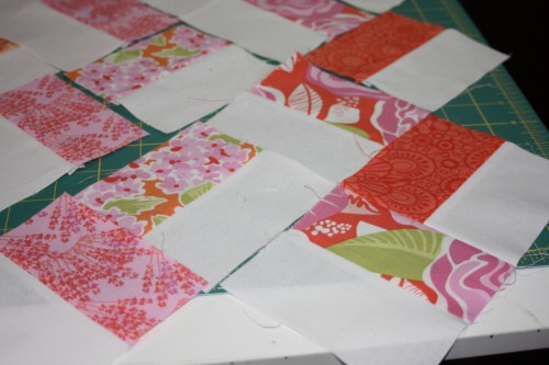 Avery Lane blog quilt sew along tutorial zigzag or chevron doll quilt