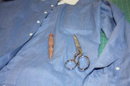 Avery Lane Blog upcycle tutorial mens dress shirt into girl's  tunic