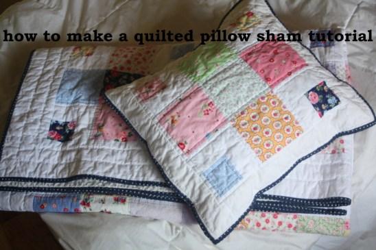 how to make a pillow sham tutorial