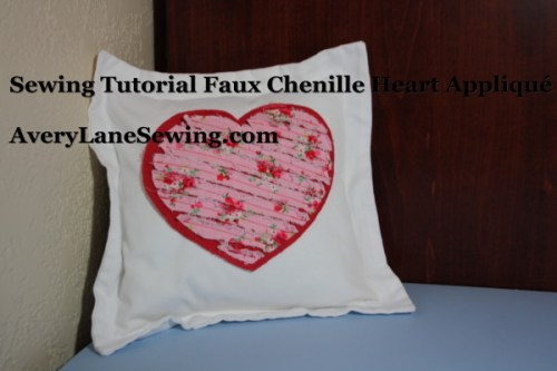 Sewing Tutorial Faux Chenille Heart Appliqué AveryLaneSewing.com 12