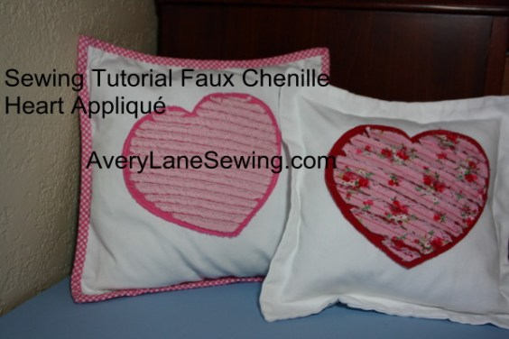 Sewing Tutorial Faux Chenille Heart Appliqué AveryLaneSewing.com 13