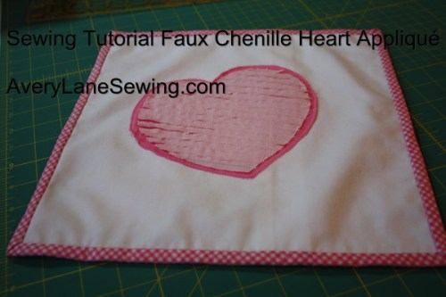 Sewing Tutorial Faux Chenille Heart Appliqué AveryLaneSewing.com 4