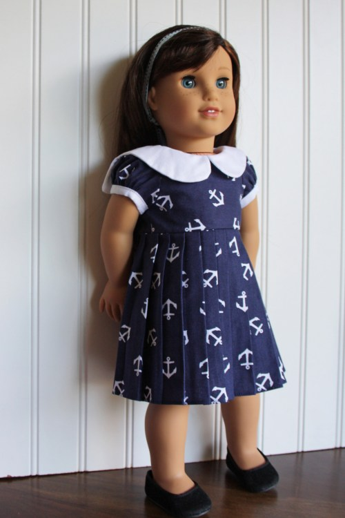 sailor dress  bonus free pattern Doll Days sewing book