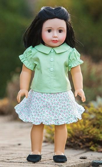 1 ruffle hem skirt from Doll Days