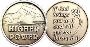 Higher Power Bronze Medallion