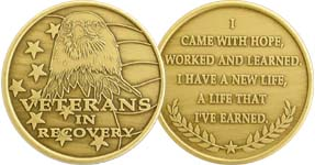 Veterans In Recovery Eagle Bronze Medallion