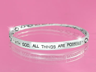 With God All Is Possible Bracelet 1