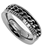 Petite Serenity Prayer Chain Spinner Ring