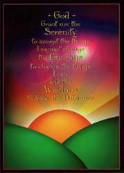 Sunrise Serenity Prayer Blank Card