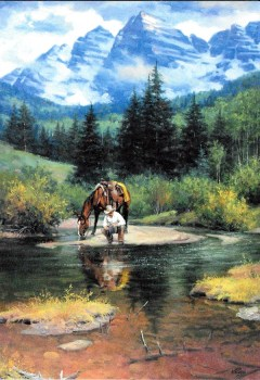 High Lonesome Trail Birthday Card