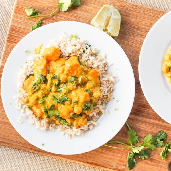 Paleo Curried Potatoes and Chickpeas
