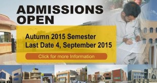 AIOU ONLINE FALL ADMISSION 2015