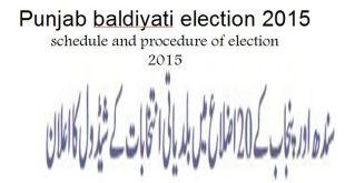 Punjab baldiyati election 2015 schedule announced