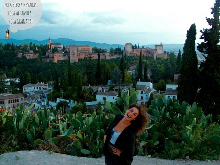 Hola Sierra Nevadas,hola Alhambra...hola GRANADA!!