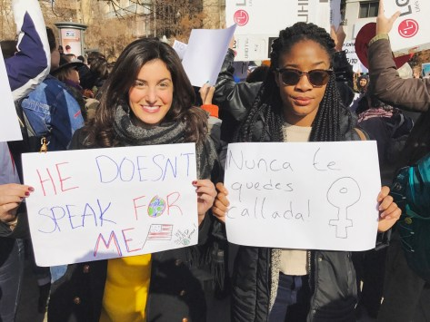 Making Angola proud at the Woman's March in Granada, Spain