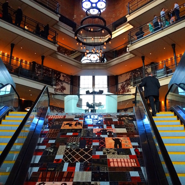 The lobby of the Liberty Hotel in Boston. Took a weekend work/fun trip!