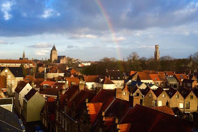 Rainbows over Bruges