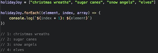 forEach method JavaScript