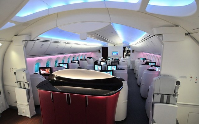 Бизнес класс Boeing 787 Qatar Airways