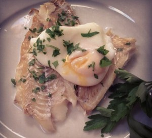 The lemon seas salt was also a wonderful addition to this smoke haddock and poached egg.