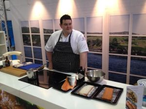 Mark showing his expertise with gin cured salmon