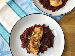 Salmon with puy lentils and beetroot