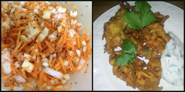 pakora collage