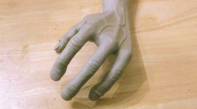 If someone has the Alien hand syndrome, they'd have a hand that would move around and do stuff on it's own without the person even being aware about it.