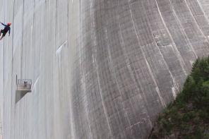 die höchste künstliche Kletterwand der Welt