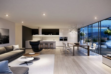 spacious modern living room