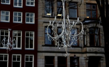 chandeliers over the canals