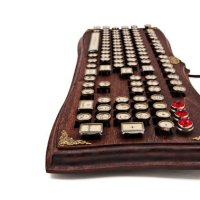 The Diviner Wooden Steampunk Keyboard