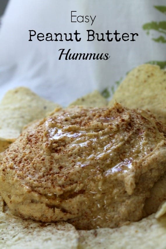Easy Peanut Butter Hummus from Awesome on 20