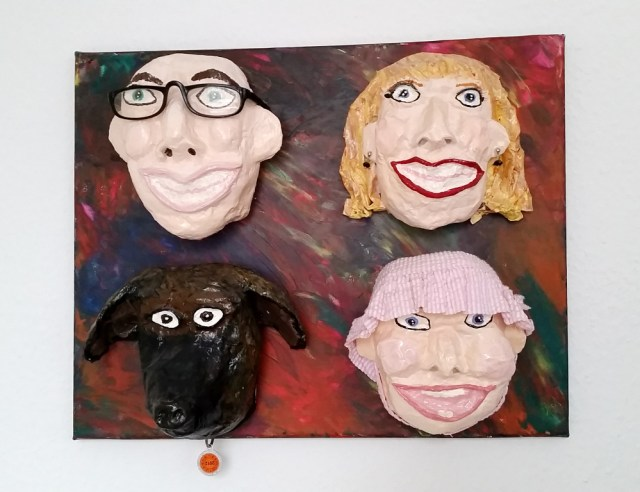 DIY Upcycled Caricature Masks