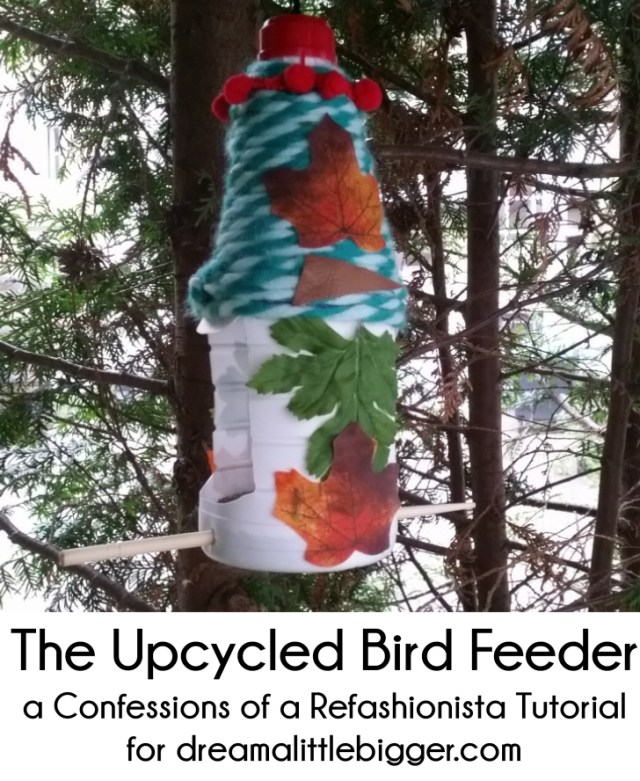 Upcycled DIY Bird Feeder tutorial