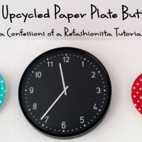 My upcycled paper plate buttons