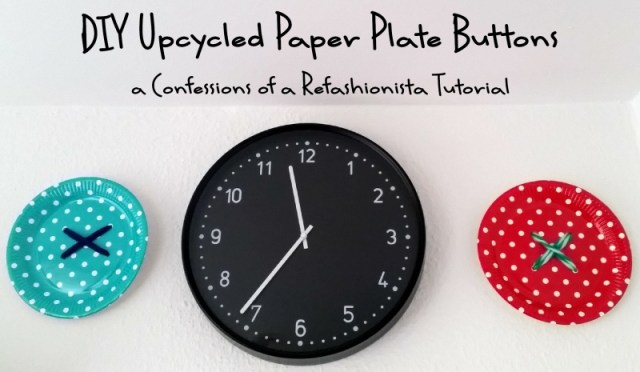 diy upcycled paper plate buttons