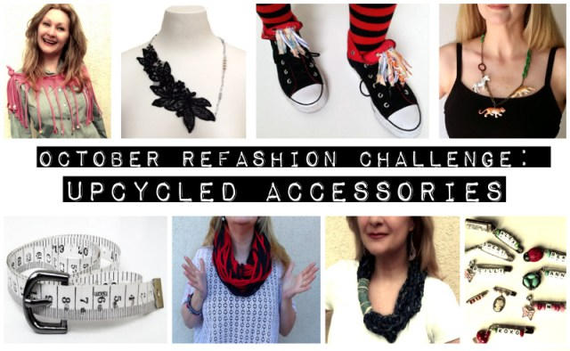 october refashion challenge upcycled accessories