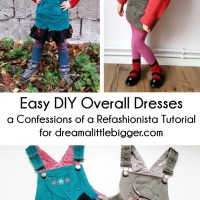 Easy DIY Overall Dresses
