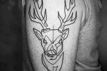 minimal stag tattoo design minimalist tattoo designs