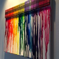 Melted Crayons on Canvas