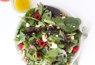 Raspberry Ricotta Salad with Lemon Vinaigrette (vegan)