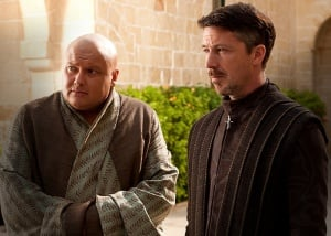conleth hill as varys and aidan gillen petyr baelish portrayed in hbo s game of thrones