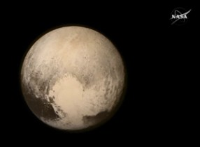 NASA Released this image of Pluto after the New Horizon Mission to Pluto.