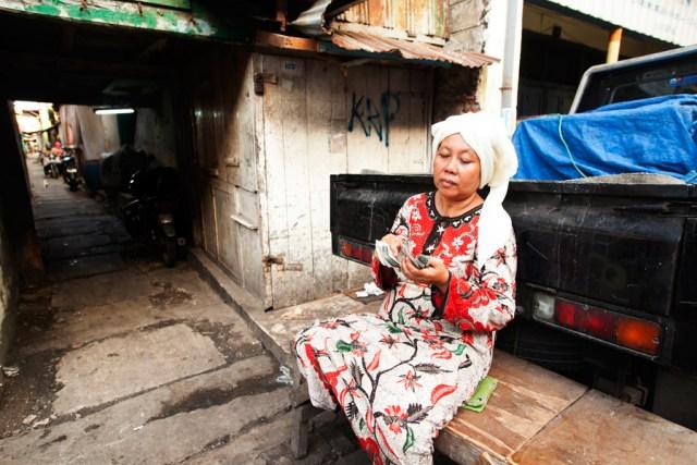 Tukang parkir Madura di Pasar Pabean
