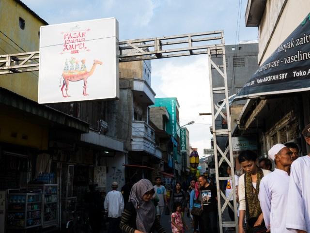 Pasar Kampung Ampel di sepanjang Jalan Sasak. Foto: Erlin Goentoro