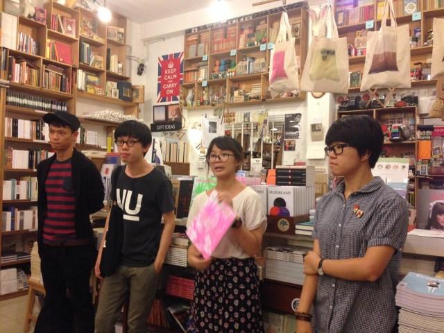Peluncuran Encounters 4 di BooksActually, Singapura.